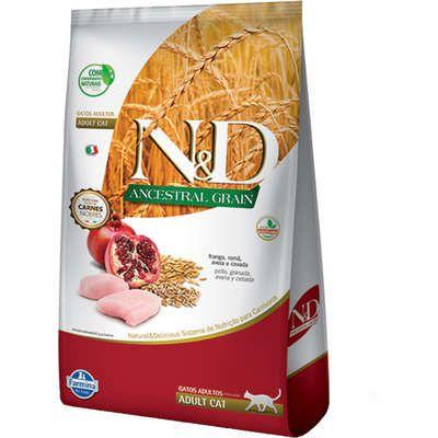 Ração N&D Ancestral Grain Frango Gatos Adultos