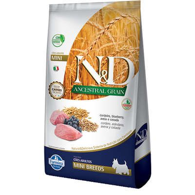Ração N&D Ancestral Grain Cordeiro Cães Adultos Raças Pequenas 10,1 KG