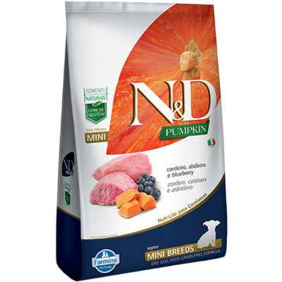 Ração N&D Pumpkin para Cães Filhotes Raças Mini sabor Cordeiro, Abóbora e Blueberry 2,5kg