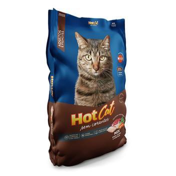 Ração para Gatos HotCat Mix Adulto e Filhotes Sabor Peixe, Carne e Vegetais