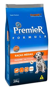 Ração Premier Cães Filhotes Raças Médias Frango 20kg