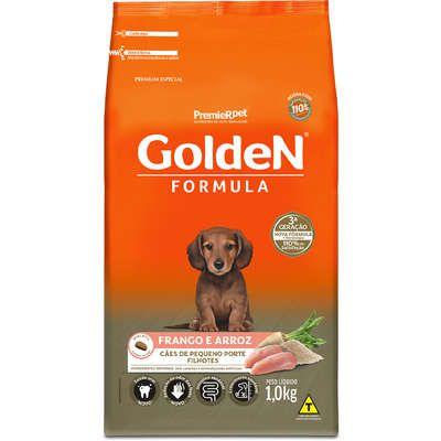 Ração Golden Formula Cães Filhotes Raças Pequenas  Frango e Arroz