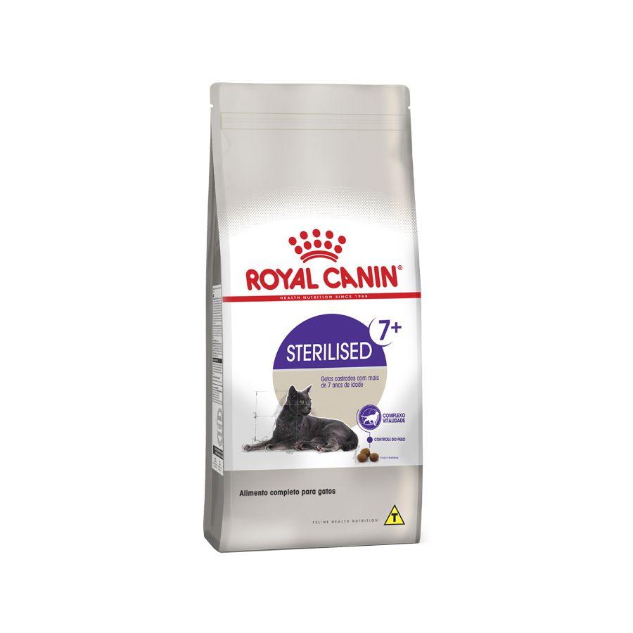 Ração Royal Canin Sterilised para Gatos Adultos Castrados 7+