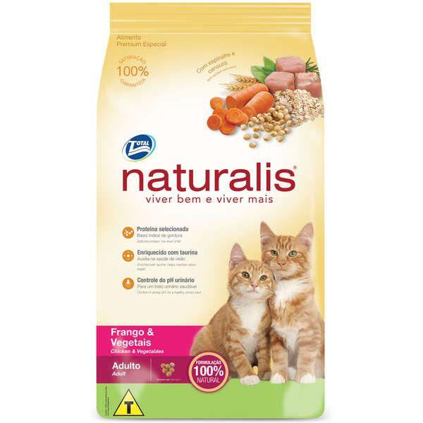 Ração Naturalis Frango e Vegetais para Gatos Adultos