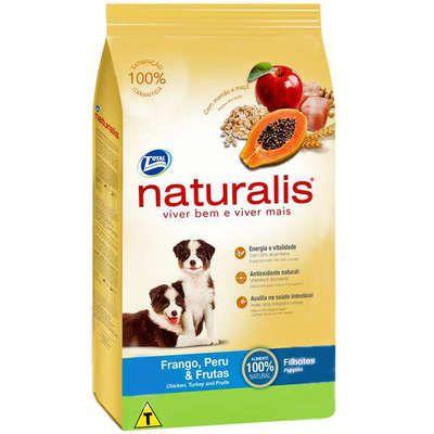 Ração Naturalis Frango,Peru e Frutas para Cães Filhotes