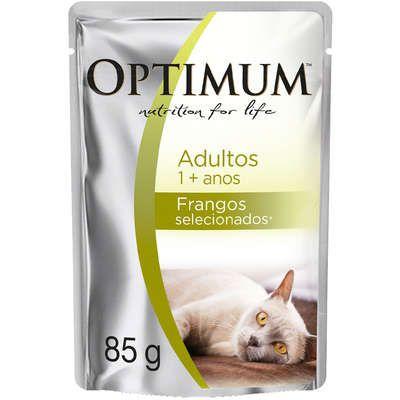 Ração Úmida Optimum Sachê para Gatos Adultos Frango