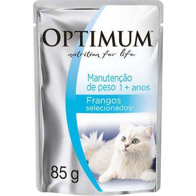 Ração Úmida Optimum Sachê para Gatos Adultos Manutenção de Peso Frango