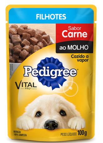 Ração Úmida Pedigree Sachê para Cães Filhotes