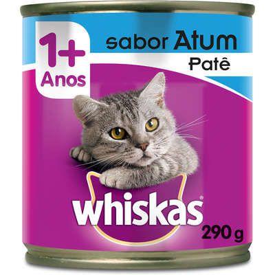 Ração Úmida Whiskas Patê Lata para Gatos Adultos - 290 g