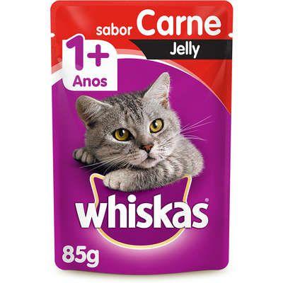 Ração Úmida Whiskas Sachê Jelly para Gatos Adultos