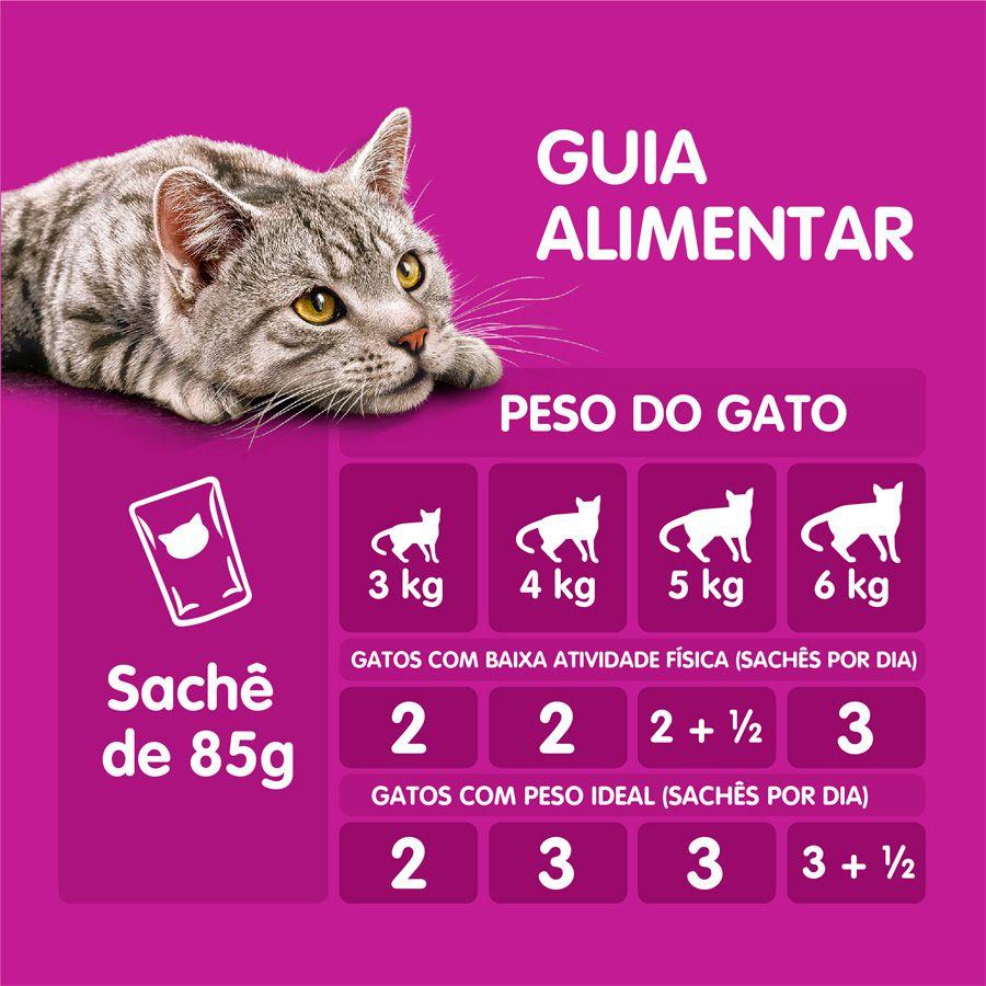 Ração Úmida Whiskas Sachê para Gatos Adultos Castrados