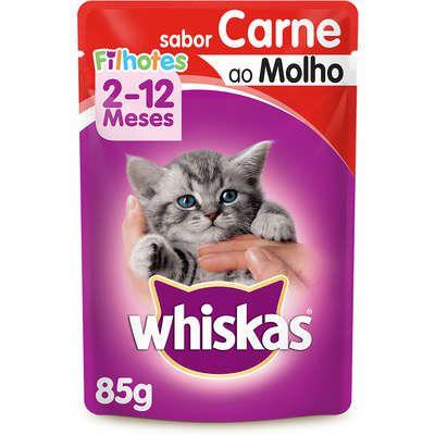 Ração Úmida Whiskas Sachê para Gatos Filhotes