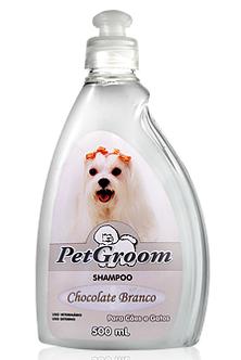 Shampoo Pet Groom Chocolate Branco 500 ml