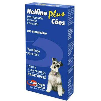 Vermífugo Helfine Plus para Cães - Agener União
