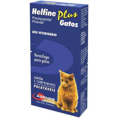 Vermífugo Helfine Plus para Gatos - Agener União