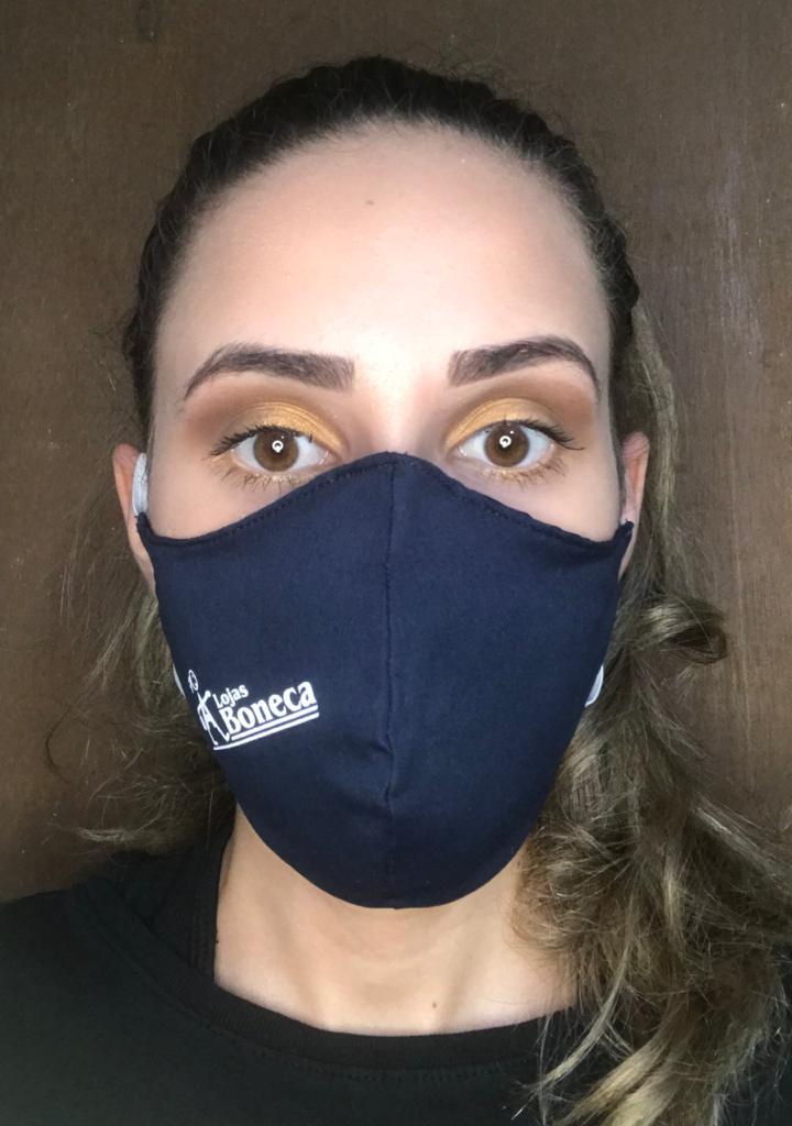 Máscara de tecido Tactel com duas Camadas - R$2,80 unidade pedido mínimo de 100 unidades.