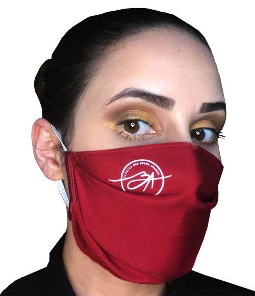 Máscara de tecido Tactel (microfibra) com uma camada de proteção