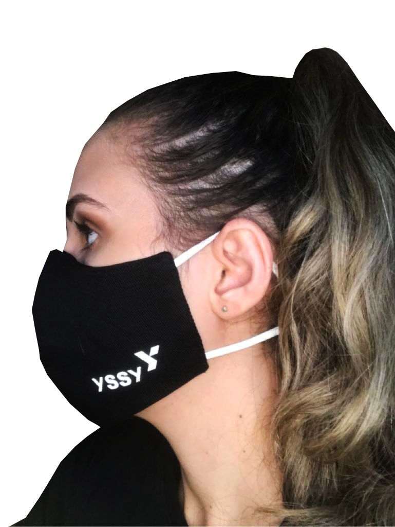 Máscara em tecido Brim Algodão com dupla camada de proteção