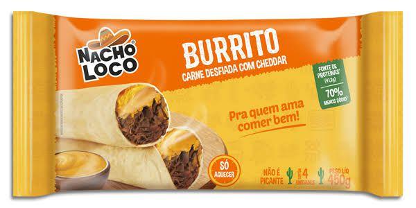 Burrito Carne Desfiada com Cheddar