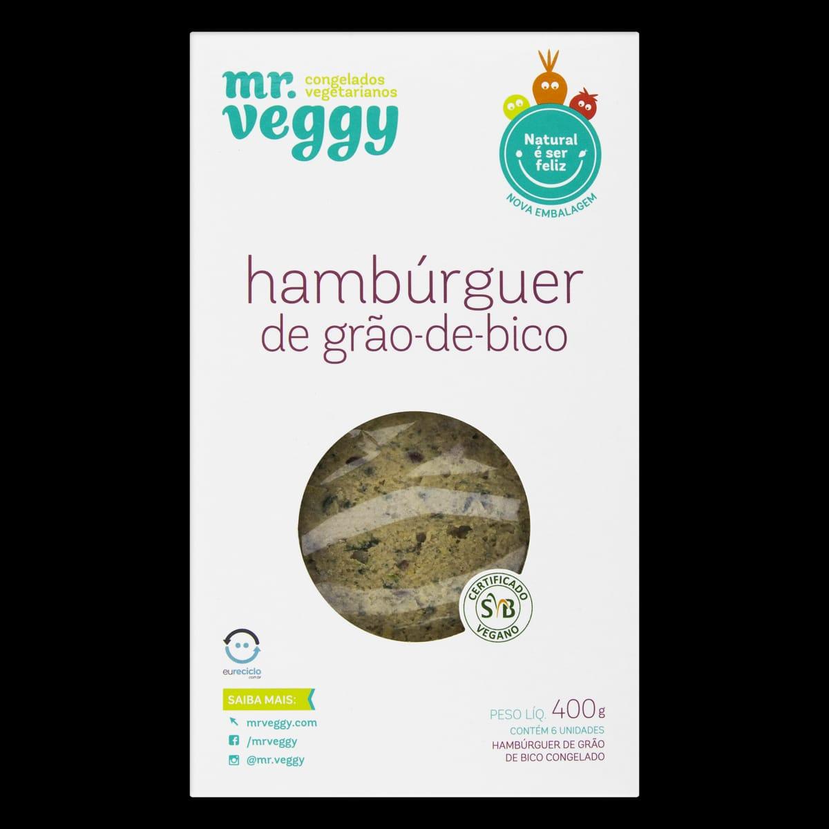 Hambúrguer de Grão de Bico - Mr Veggy