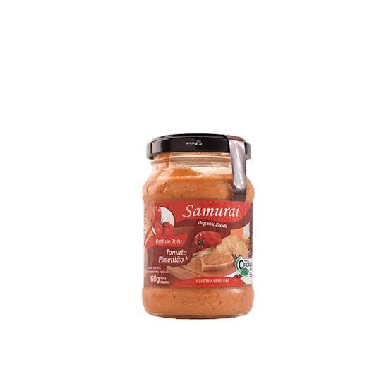 Patê de tofu: tomate e pimentão