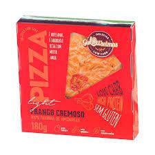 Pizza low carb Frango com Requeijão - Gulowseimas