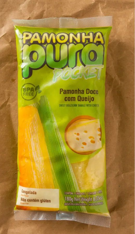 (Pocket) Pamonha Doce com Queijo