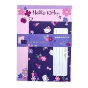 PAPEL DE CARTA HELLO KITTY FLORES