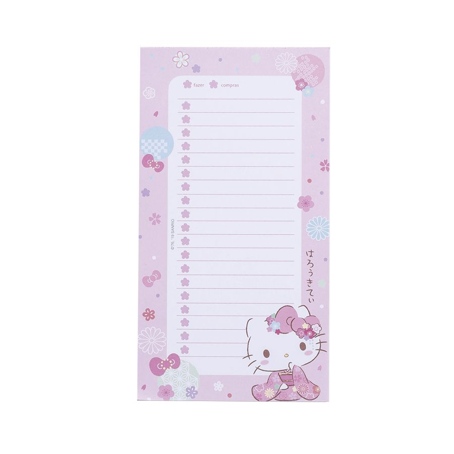 BLOCO LISTA HELLO KITTY SAKURA