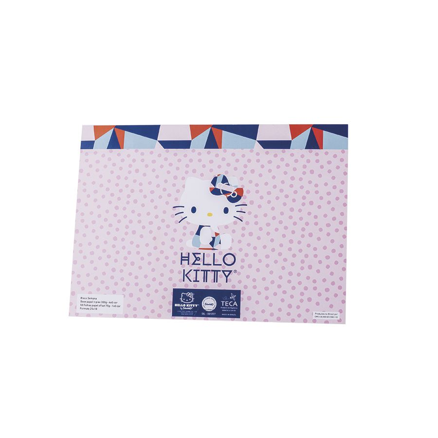 BLOCO SEMANAL HELLO KITTY CUTE