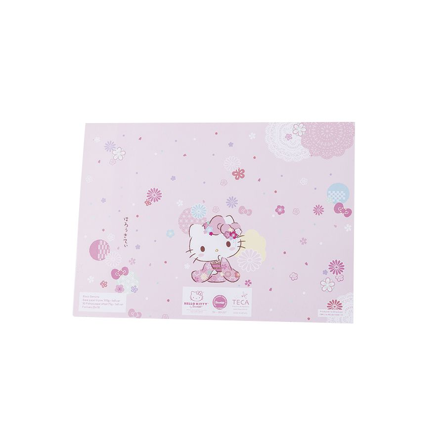 BLOCO SEMANAL HELLO KITTY SAKURA