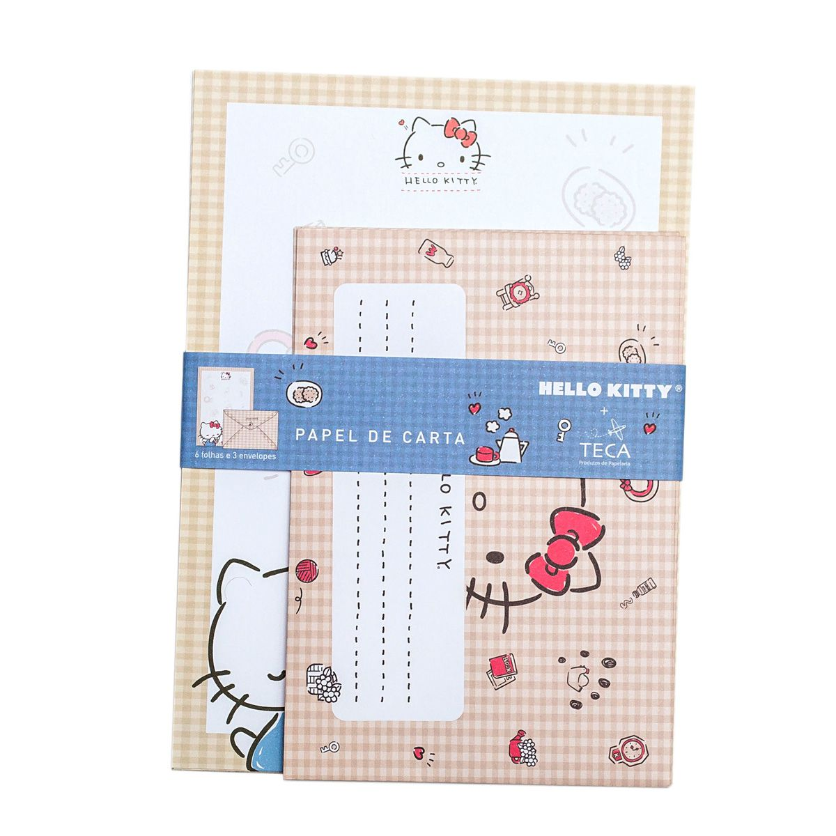 PAPEL DE CARTA HELLO KITTY PIQUENIQUE