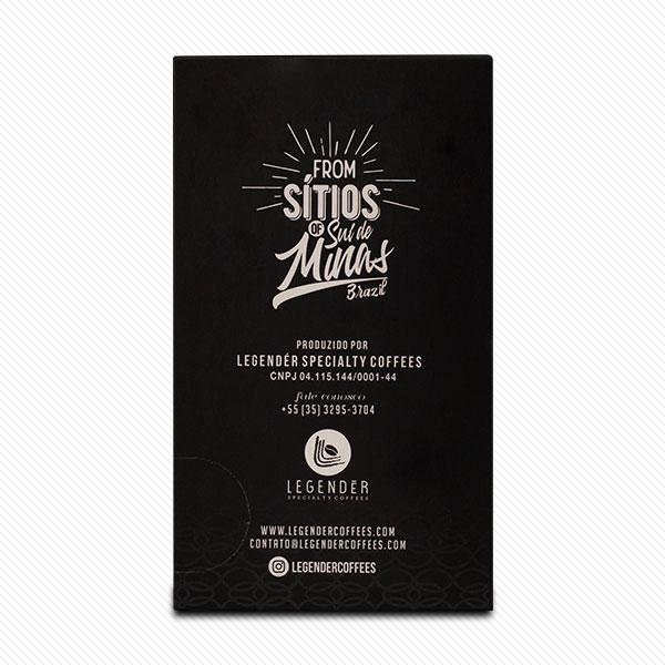 CAFÉ ESPECIAL LEGENDÉR EM CÁPSULAS - NOTAS DE CARAMELO E CHOCOLATE INTENSO
