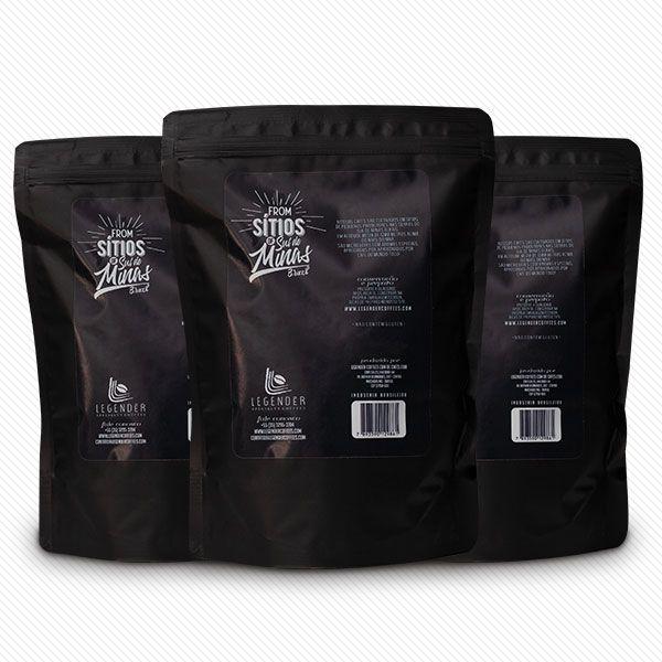 CAFÉ ESPECIAL LEGENDÉR TORRADO E MOÍDO - 500g - SÍTIO ALTO DA SERRA - 3 Unidades