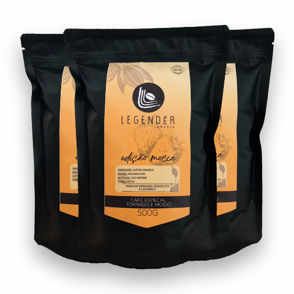 Café Especial Torrado e Moído - Edição Mocca - 500g - 3 unidades