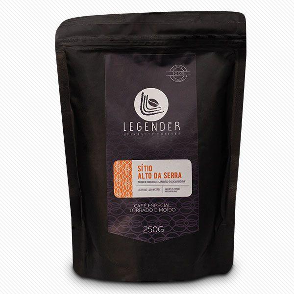 CAFÉ ESPECIAL LEGENDÉR TORRADO MOÍDO -  SÍTIO ALTO DA SERRA - 250g