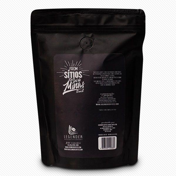CAFÉ ESPECIAL  LEGENDÉR TORRADO EM GRÃOS  -  250g - SÍTIO ALTO DA SERRA  - NOTAS DE CARAMELO E CEREJA MADURA