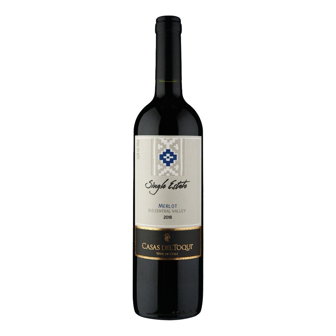 Vinho Casas del Toqui Single Estate Merlot 750ml