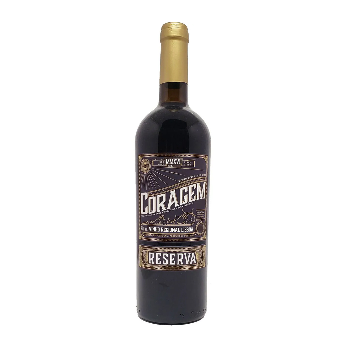 Vinho Coragem Reserva Regional Lisboa 750ml