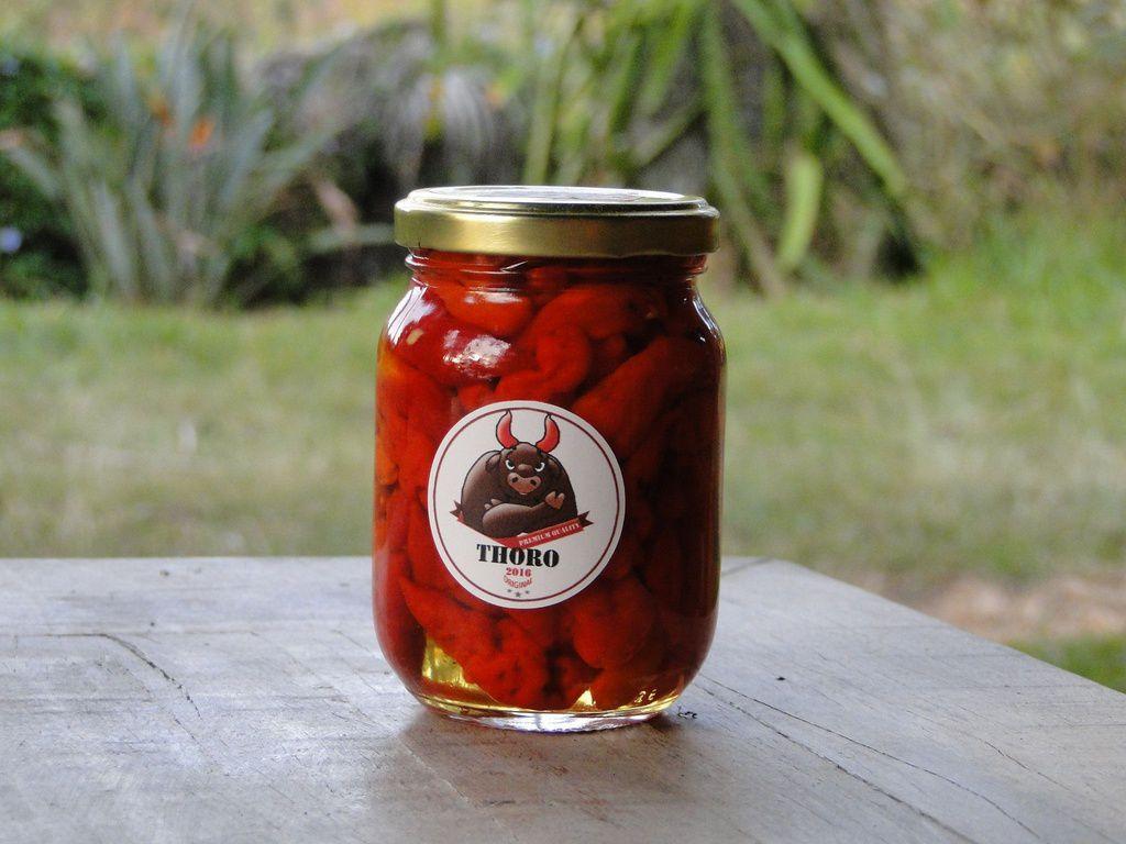 Conserva Mix de Pimentas Murupi e Bhut Jolókia pote 250 gr
