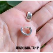 Brinco de Prata 925 Argolinha Larga P