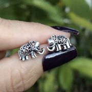 Brinco de Prata 925 elefante