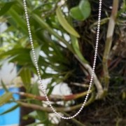 Corrente de Prata 925 Bolinhas 70cm 1,2mm