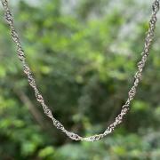 Corrente de Prata 925 Cingapura 45cm 1,7mm