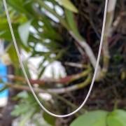 Corrente de Prata 925 Rabo de Rato 1mm com 60cm