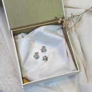 Kit Artena Conjunto de Prata 925 Brinco e Pingente Flor Color
