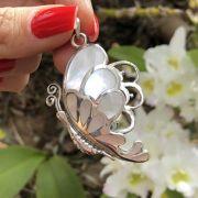 Pingente de Prata 925 Borboleta de Madrepérola