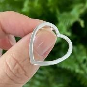 Pingente de Prata 925 Coração Vazado 2,3cm