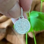 Pingente de Prata 925 Medalha São Bento 1,4cm