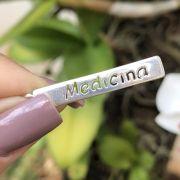 Pingente de Prata 925 Placa Profissão Medicina